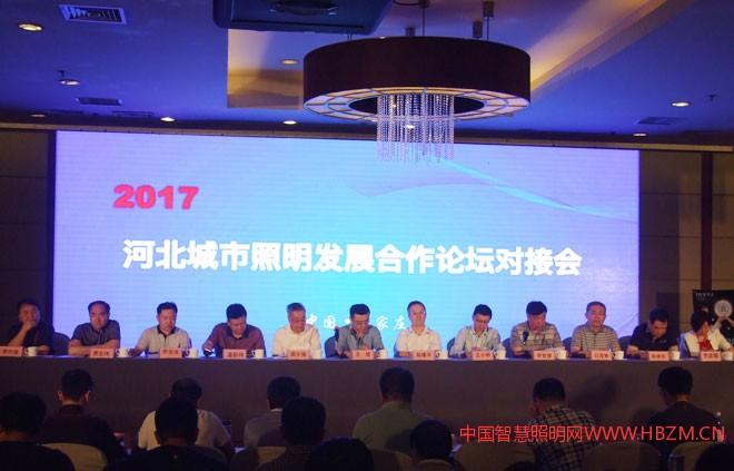 2017河北城市照明发展合作论坛对接会主席台领导
