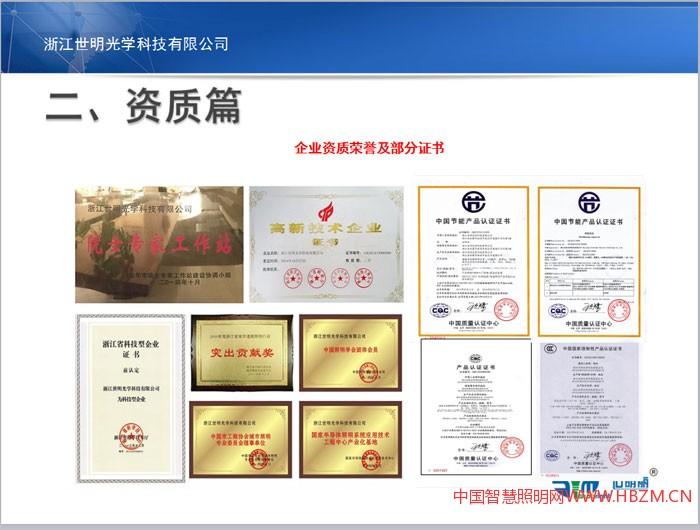 浙江世明光学科技有限公司公司资质
