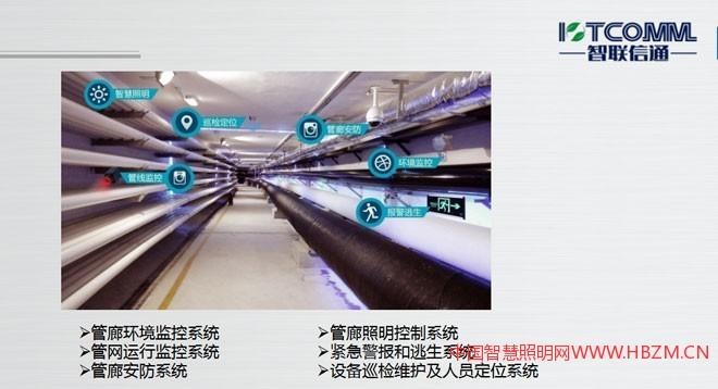 管廊环境监控系统 管网运行监控系统 管廊安防系统管廊照明控制系统 紧急警报和逃生系统 设备巡检维护及人员定位系统
