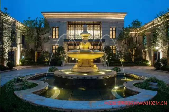 欧式喷泉夜景照明