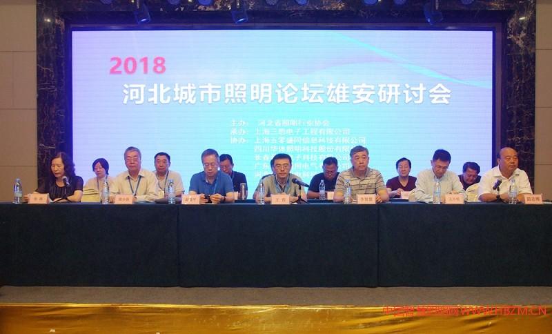 2018 河北城市照明论坛雄安研讨会主席台