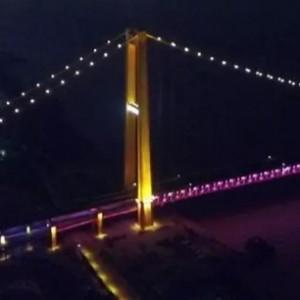 武汉杨泗港长江大桥夜景照明抢先看